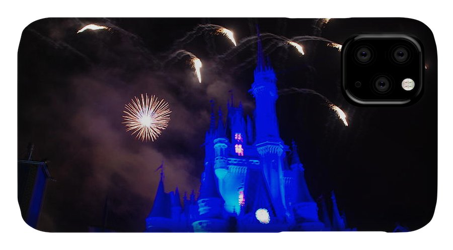 Walt Disney World IPhone Case featuring the photograph Cinderella Castle by Rob Hans