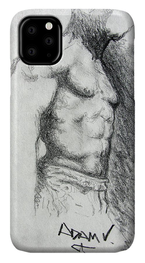 Men IPhone Case featuring the drawing Untitled by Adam Vance