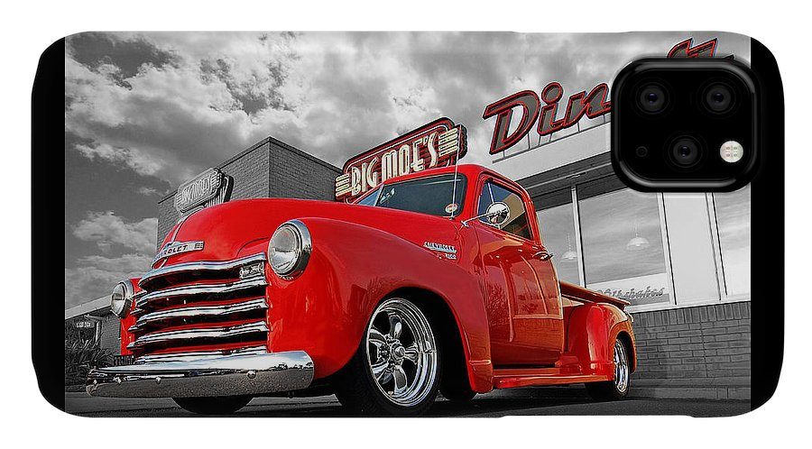 Chevrolet Truck IPhone Case featuring the photograph 1952 Chevrolet Truck At The Diner by Gill Billington