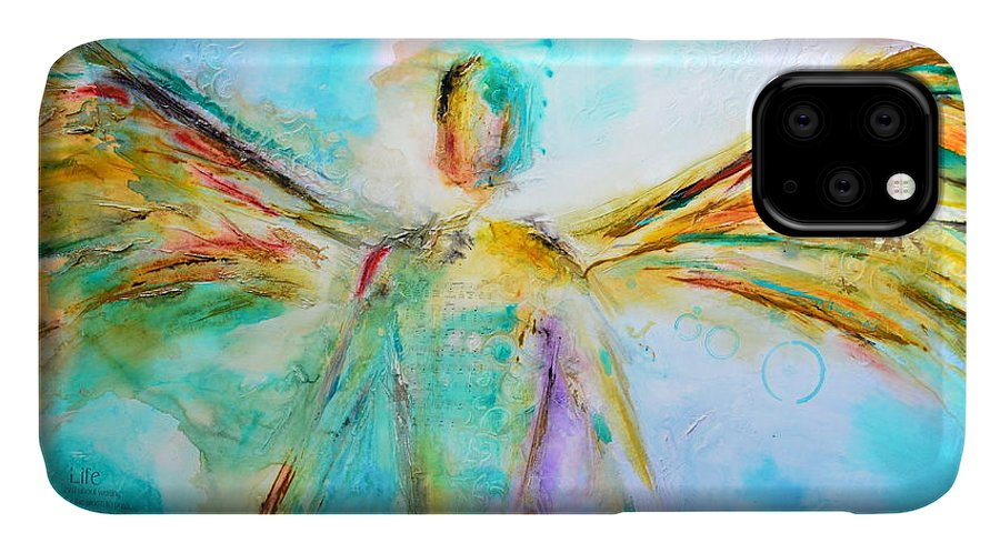 Angel IPhone Case featuring the mixed media A Story Of Love 2 by Ivan Guaderrama