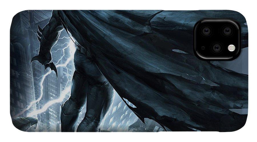 Batman The Dark Knight Returns 2012 IPhone Case featuring the digital art Batman The Dark Knight Returns 2012 by Geek N Rock