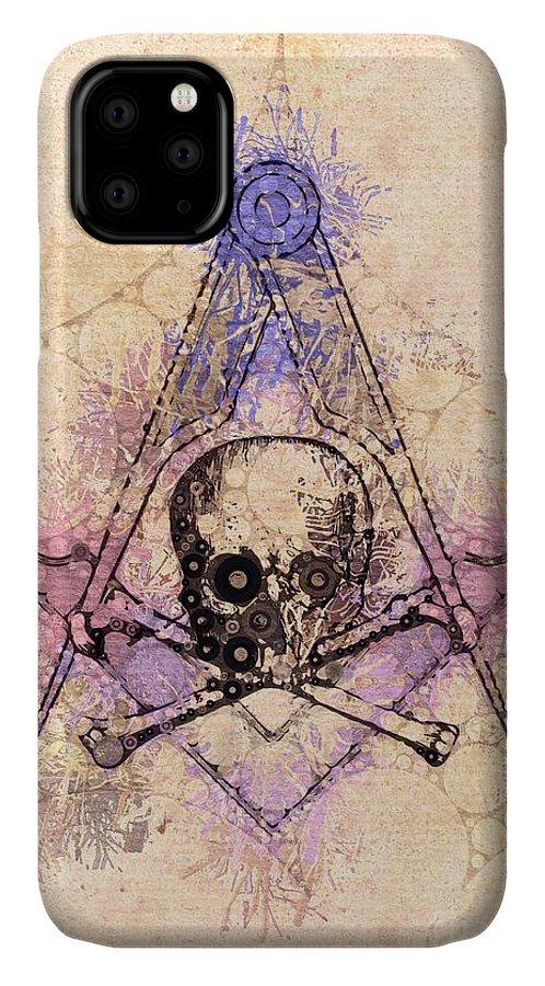 Freemason IPhone Case featuring the painting Freemason, Mason, Masonic, Lodge, Symbol by Esoterica Art Agency