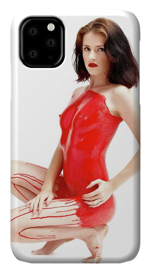 Latex IPhone Case featuring the photograph Liquid Latex by Pavel Jelinek