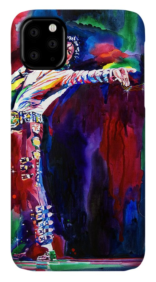 Michael Jackson IPhone Case featuring the painting Jackson Magic by David Lloyd Glover