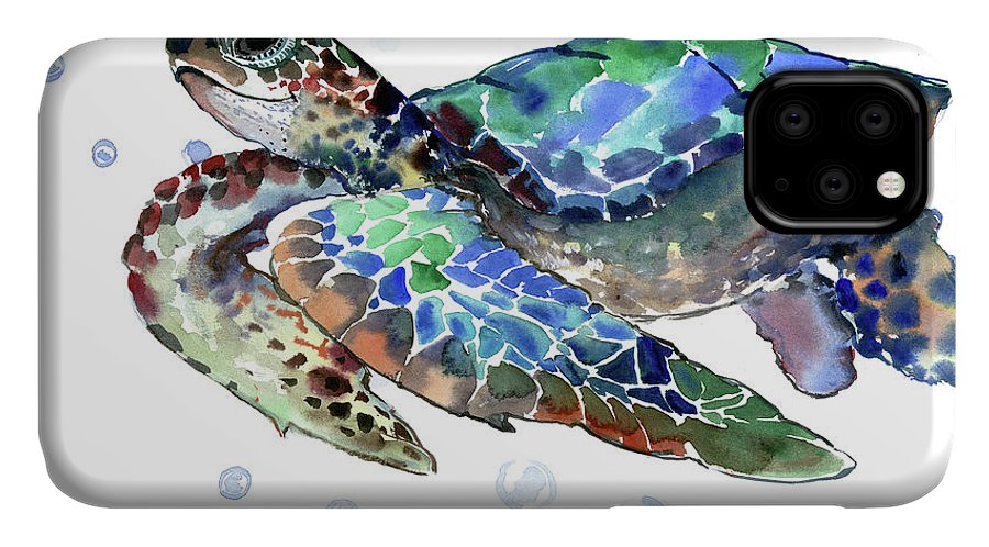 Three Sea Turtles iphone 11 case