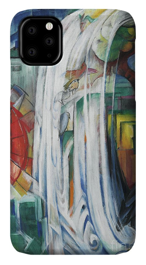 Marc IPhone Case featuring the painting The Bewitched Mill by Franz Marc
