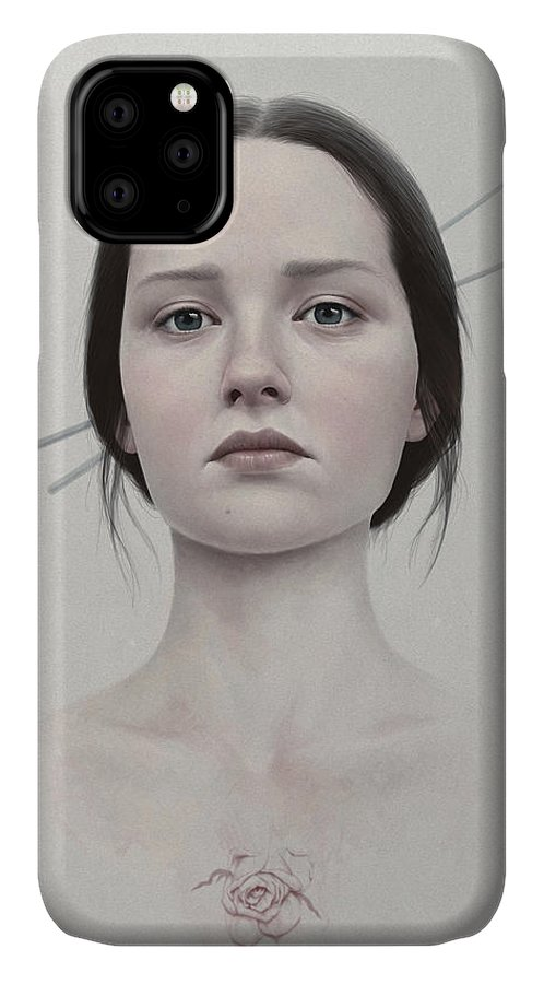 Woman IPhone 11 Case featuring the painting 318 by Diego Fernandez