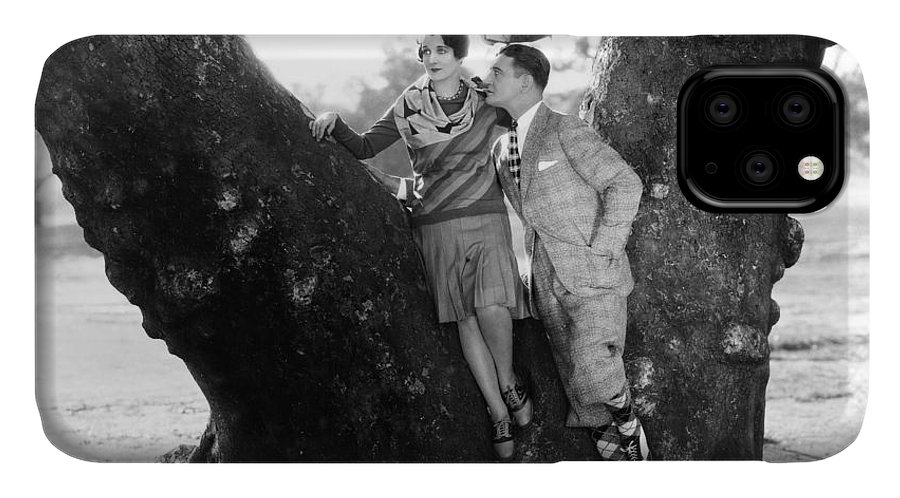 -couples- IPhone 11 Case featuring the photograph Silent Film Still: Couples by Granger