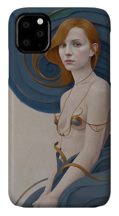 Woman IPhone 11 Case featuring the digital art 459 by Diego Fernandez