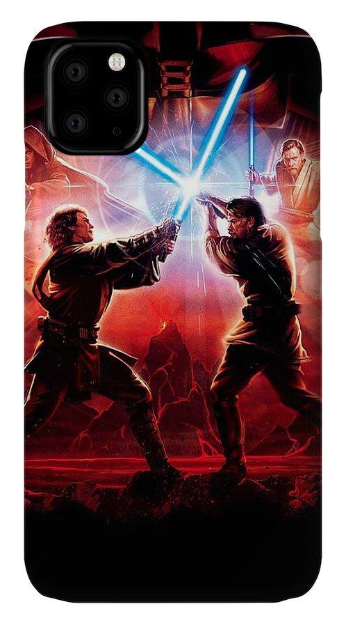 Star Wars IPhone Case featuring the digital art Star Wars Episode IIi - Revenge Of The Sith 2005 3 by Geek N Rock