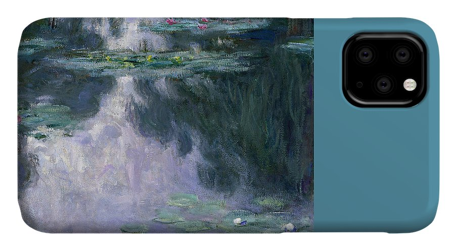 Nympheas IPhone 11 Case featuring the painting Waterlilies by Claude Monet