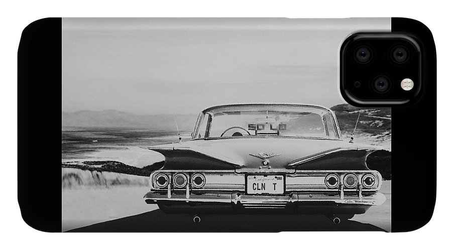 Lowrider IPhone Case featuring the digital art 60 Impala Lowrider by Colin Tresadern