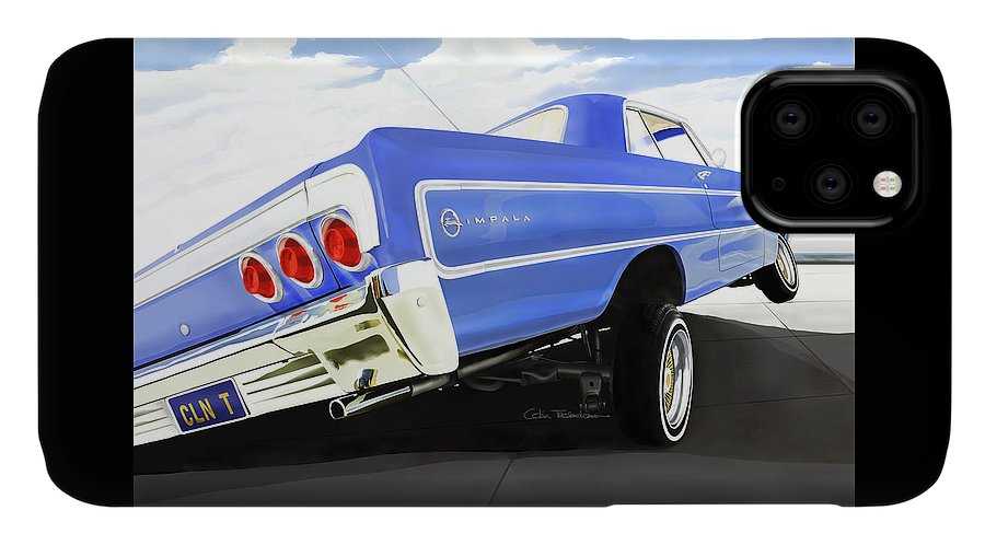 Lowrider IPhone Case featuring the digital art 64 Impala Lowrider by Colin Tresadern