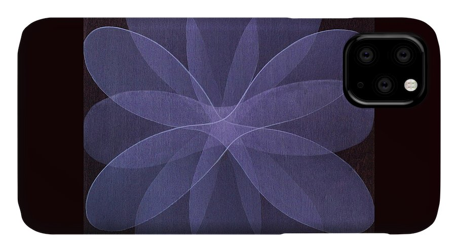 Abstract IPhone Case featuring the painting Abstract flower by Jitka Anlaufova