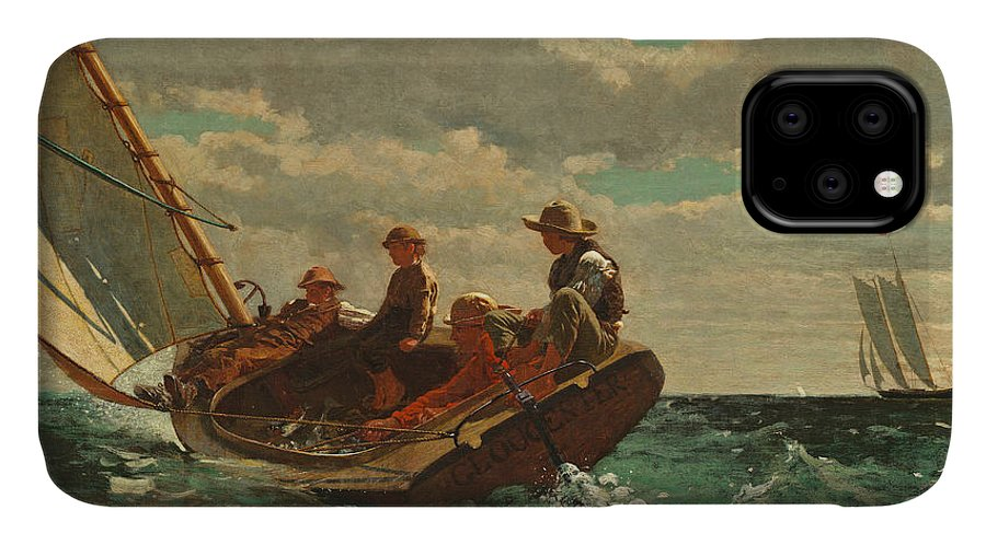 Brezing Up IPhone Case featuring the painting Breezing Up by Winslow Homer
