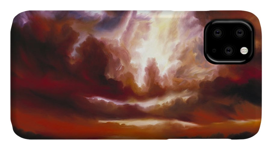 Tempest IPhone Case featuring the painting A Cosmic Storm - Genesis V by James Christopher Hill