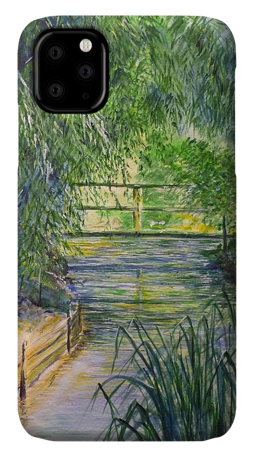 Giverny IPhone Case featuring the painting A Day At Giverny by Lizzy Forrester