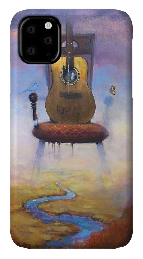 Chair IPhone 11 Case featuring the painting A Graceful Dissonance by Joshua Smith