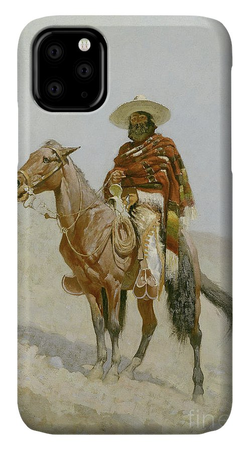Remington IPhone Case featuring the painting A Mexican Vaquero by Frederic Remington