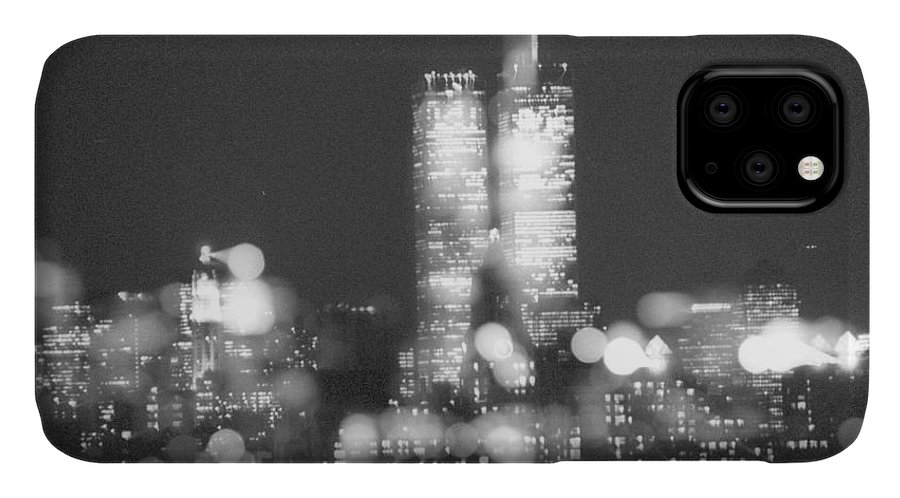 Twin Towers IPhone 11 Case featuring the photograph A Penthouse View by Michael Miller