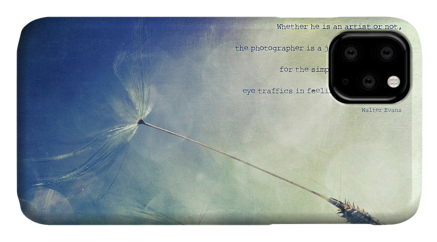 Dandelion IPhone Case featuring the photograph A Photographer's Eye by Joy Gerow
