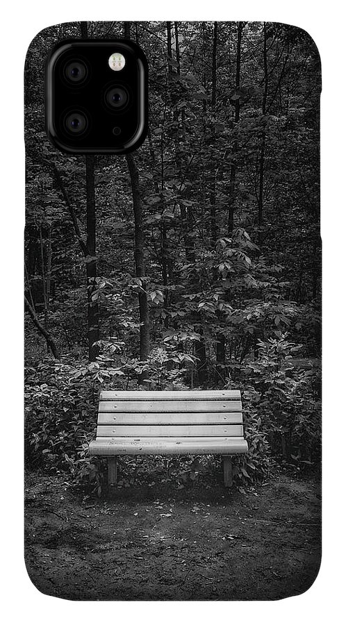 Black And White IPhone Case featuring the photograph A Place To Sit by Scott Norris