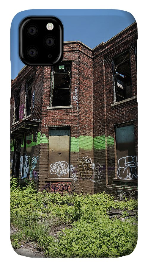 Graffiti IPhone Case featuring the photograph Abandoned Building With Graffiti by Kim Hojnacki