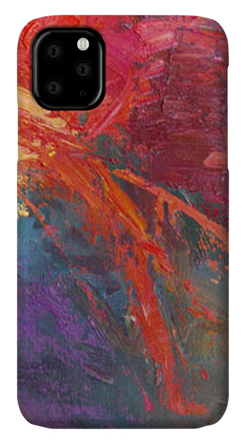 Abstract IPhone Case featuring the painting Abstract 103A by Betty Jean Billups