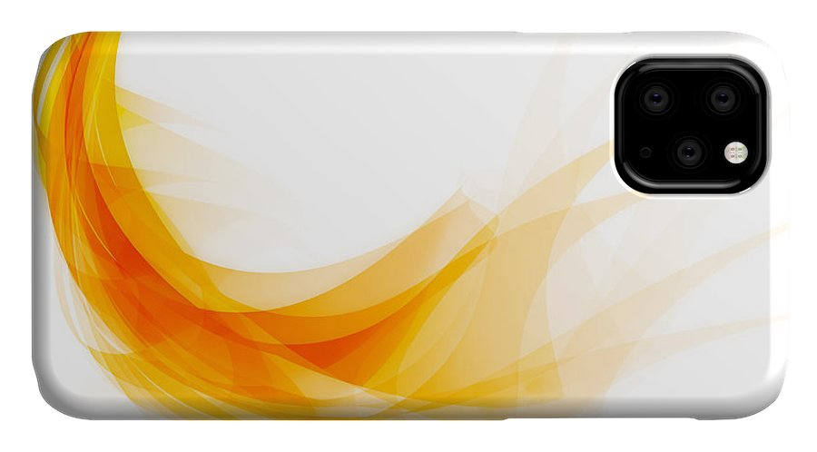 Abstract IPhone Case featuring the painting Abstract feather by Setsiri Silapasuwanchai