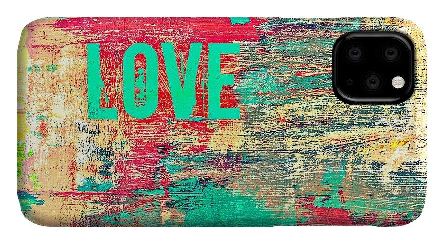 Brandi Fitzgerald IPhone 11 Case featuring the digital art Abstract Love V2 by Brandi Fitzgerald