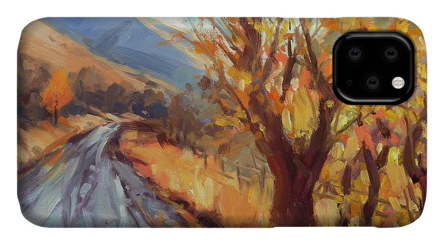 Country IPhone 11 Case featuring the painting After An Autumn Rain by Steve Henderson