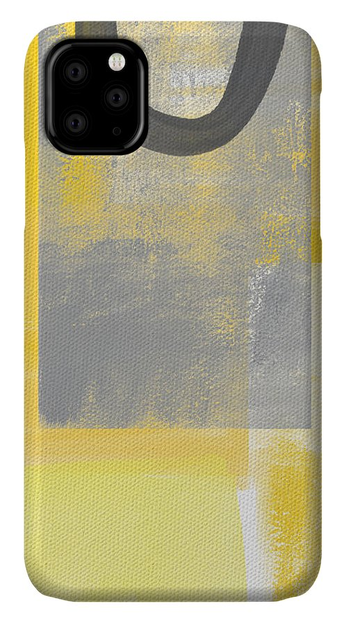 Yellow IPhone Case featuring the painting Afternoon Sun and Shade by Linda Woods