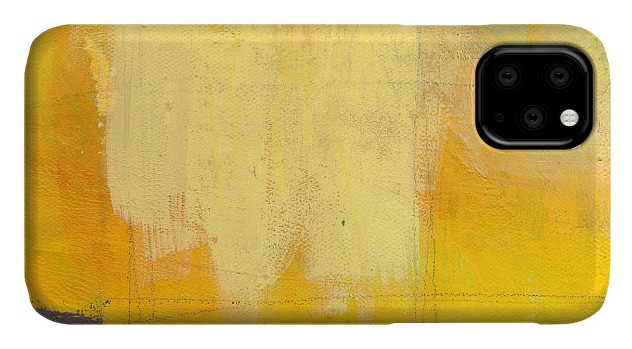 Abstract IPhone Case featuring the painting Afternoon Sun -large by Linda Woods