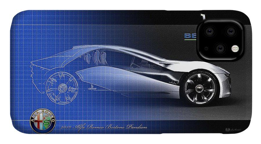 Wheels Of Fortune By Serge Averbukh IPhone Case featuring the photograph Alfa Romeo Bertone Pandion Concept by Serge Averbukh