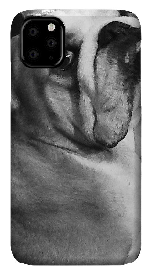 Alfred Hitchcock Bullie Pose IPhone Case featuring the photograph Alfred Hitchcock Bullie Pose by Kym Backland