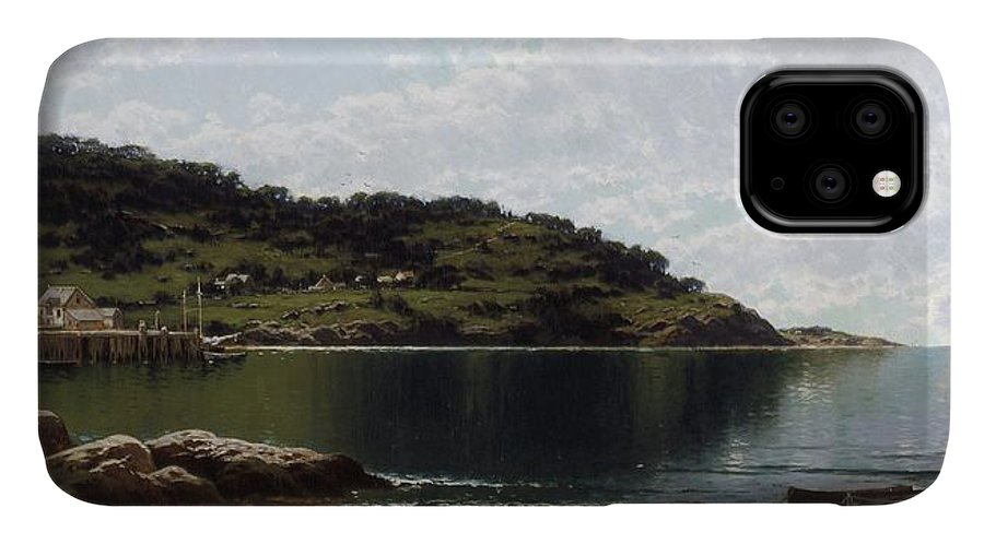 Along The Maine Coast IPhone 11 Case featuring the painting Along The Maine Coast by MotionAge Designs