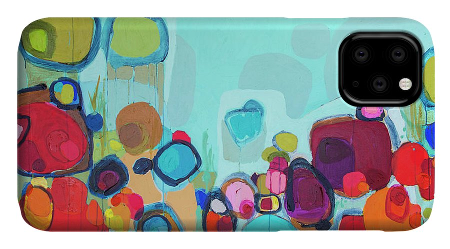 Abstract IPhone Case featuring the painting Always Will Be by Claire Desjardins