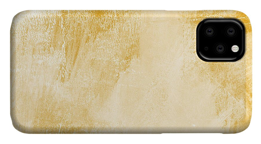 Abstract IPhone 11 Case featuring the painting Amber Waves by Linda Woods