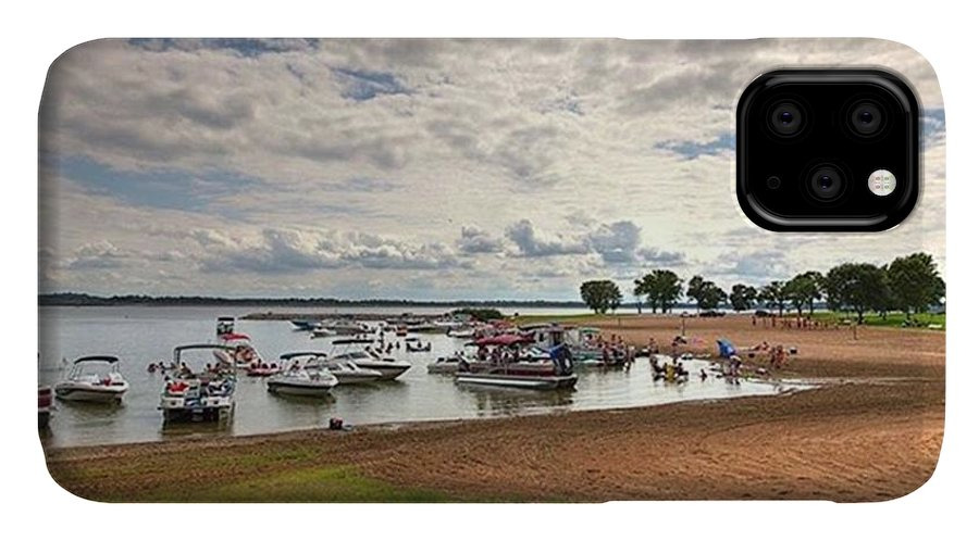 Rendlake IPhone Case featuring the photograph Americans At Play  South Marcum by Larry Braun