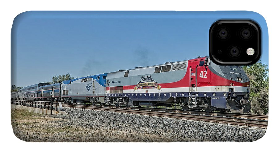 Amtrak IPhone Case featuring the photograph Amtrak 42 Veteran's Special by Jim Thompson