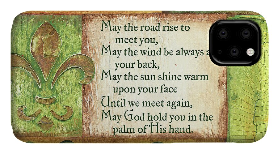 Irish IPhone Case featuring the painting An Irish Blessing by Debbie DeWitt