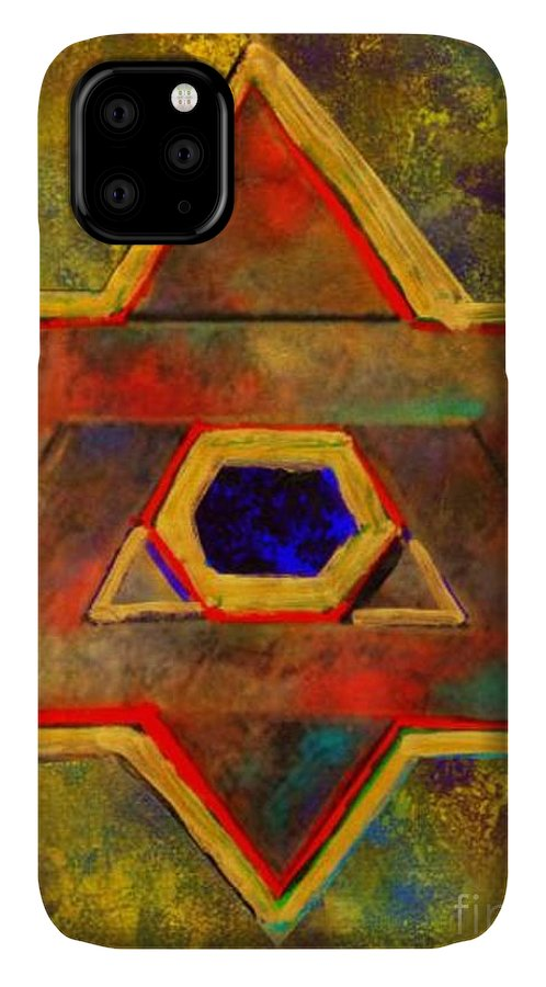 Ancient Star IPhone Case featuring the painting Ancient Star by Wbk