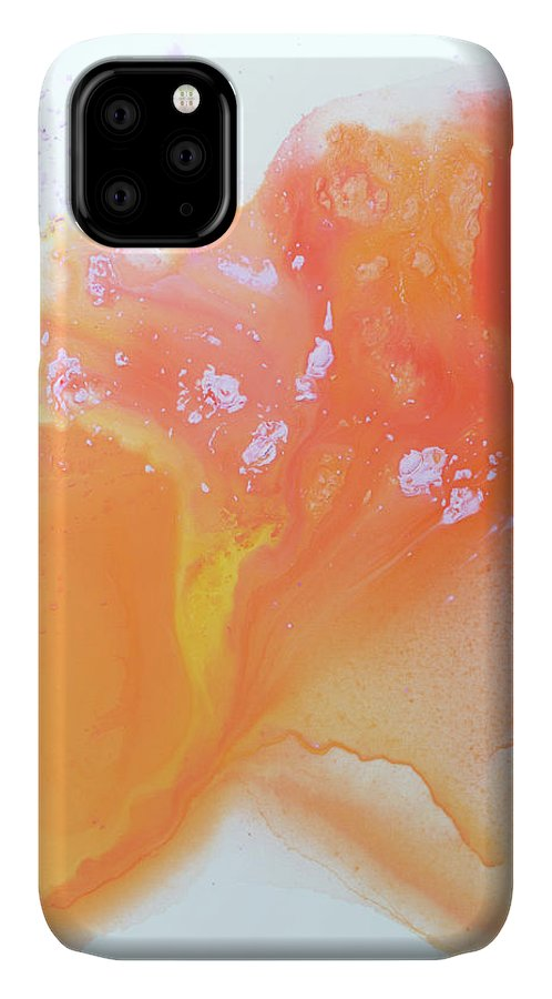 Abstract IPhone 11 Case featuring the painting Another Love by Claire Desjardins