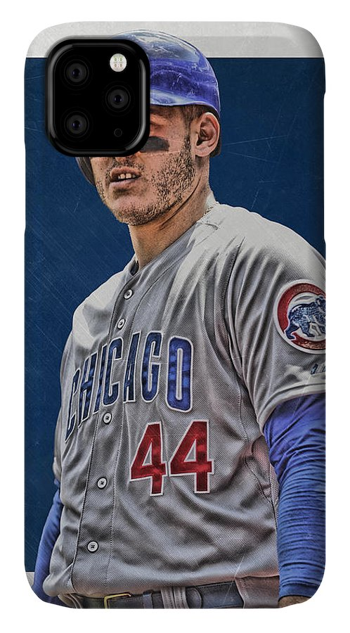 Anthony Rizzo IPhone Case featuring the mixed media Anthony Rizzo Chicago Cubs 3 by Joe Hamilton