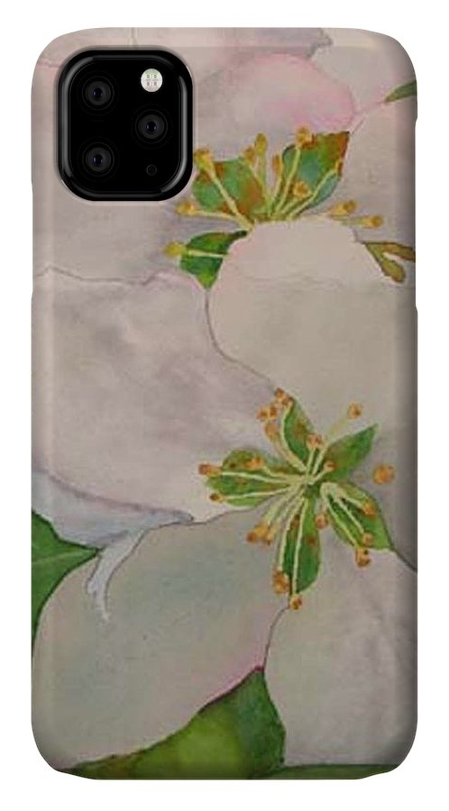 Apple Blossoms IPhone Case featuring the painting Apple Blossoms by Sharon E Allen
