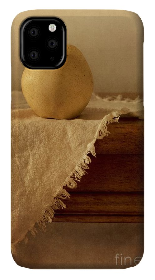 Dining Room IPhone Case featuring the photograph Apple Pear On A Table by Priska Wettstein