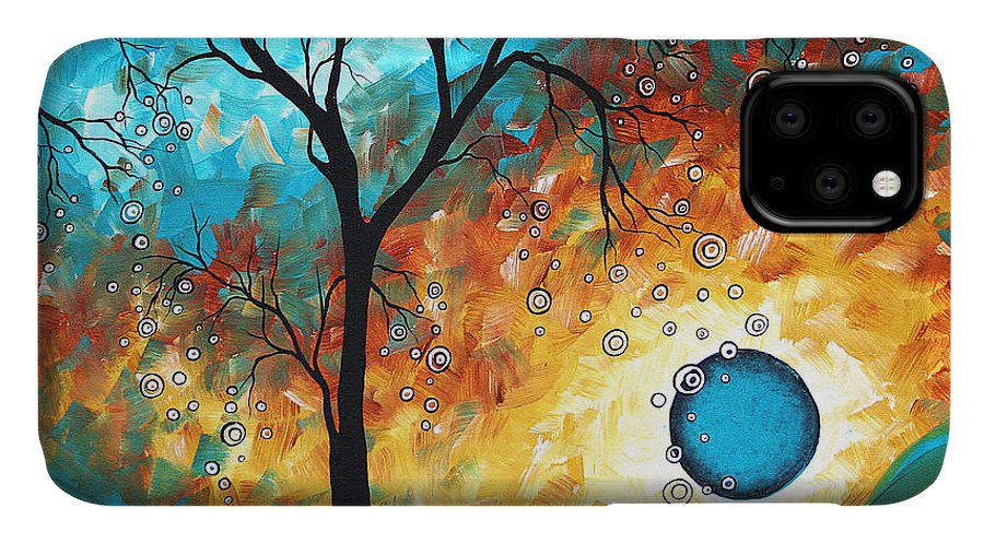 Art IPhone Case featuring the painting Aqua Burn By Madart by Megan Duncanson