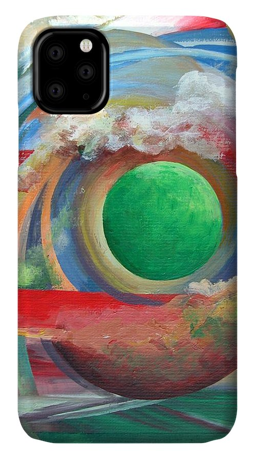Abstract IPhone Case featuring the painting Arc by Muriel Dolemieux