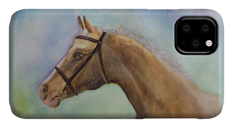 Horse IPhone Case featuring the painting Arizona by Beverly Johnson