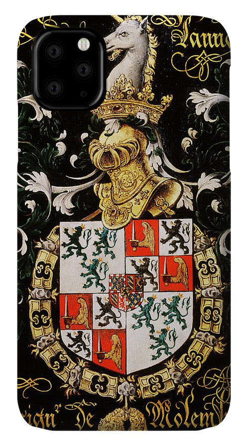 Order Of The Golden Fleece IPhone Case featuring the painting Armorial Plates From The Order Of The Golden Fleece - 1 by Lukas de Heere